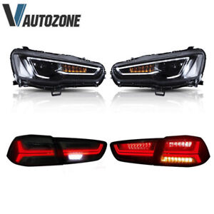Fit For 2008 2018 Mitsubishi Lancer Evo X Blackout Headlights Tail Lights