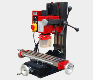 Mini Milling Drilling Machine Digital Display Turret Safety Guard Variable Speed