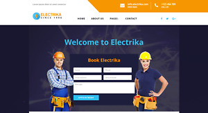 Electrtian Website Template For Sale Electrician Multipages Wordpress Template