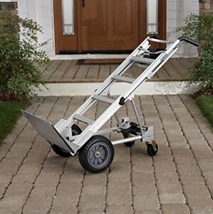 3 in 1 Assisted Hand Truck Moving Furniture Cart 1000lbs And Flat Free Wheels