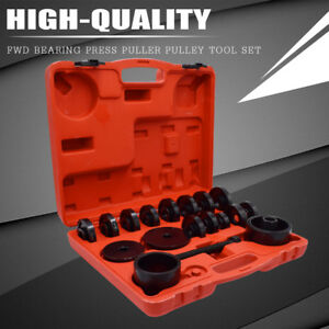 23pc Front Wheel Drive Bearing Press Tools Removal Adapter Puller Pulley Set Fwd