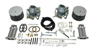 Empi 43 4430 Dual 40mm Kadron Style Carburetor Kit W Twist Linkage Vw Bug Buggy