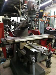 Used Bridgeport Series 2 Ii Vertical Mill Machine Machining Dro Power Feed 2hp