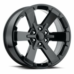 4 22 X 9 Chevy Sliverado 1500 Rally Ck 162 5662 Wheels Rims Gloss Black Gmc
