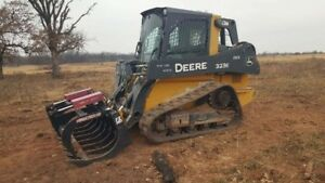 2015 John Deere 323e Cab A c With Bucket Not Grapple Track Skid Steer Used