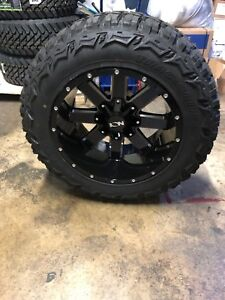 5 20x12 Ion 141 Black 35 Mt Wheel Tire Package 5x5 Jeep Wrangler Jk Jl
