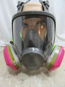 3m 6899b Full Face Respirator With 2 Used Cartridges