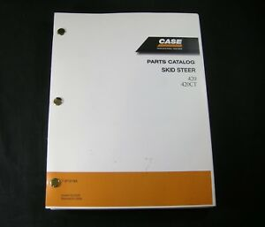 Case 420 420ct Skid Steer Track Loader Tractor Parts Manual Book Catalog 7 9712