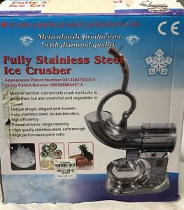 Huanyu Stainless Steel Commercial Ice Shaver Crusher Shaved Icee Maker Zy sb114