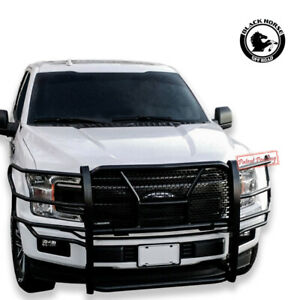 Black Horse 15 19 Ford F150 Rugged Black Grille Brush Guard Bumper Protector