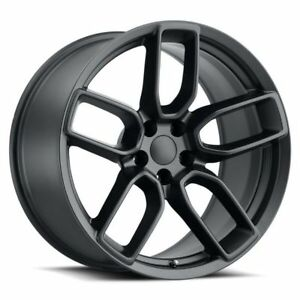 20 X 9 Widebody Style Wheels Rims Satin Black Dodge Charger Challenger