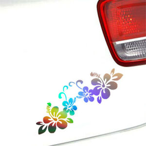 Beautiful Flower Sticker Car Bumper Window Laptop Home Wall Vinyl Decal Decor