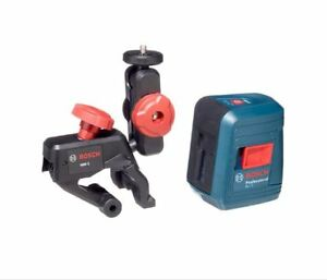 New Bosch Gll 2 Self leveling Cross line Laser Level With Mount And Glm 10