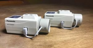 Lot Of 2 Panasonic Wv cp244 Cctv Security Camera W wv la4r5c3b Lens Sl