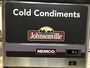 New Nemco 9020 3 Countertop Cold Condiment Chiller With 3 1 9 S s Pans