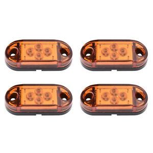 20pcs Amber 2 Oval Clearence Light Truck Rv Side Fender Marker Light Sealed 12v