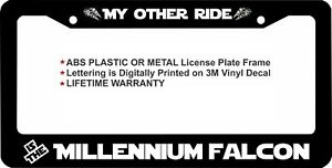 Star Wars My Other Ride Is The Millennium Falcon Custom License Plate Frame