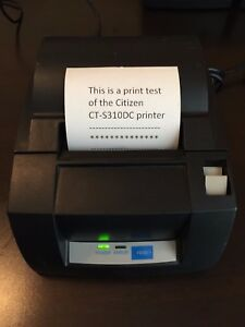 Citizen Ct s310 Pos Thermal Label Receipt Printer Usb serial Port Auto cut