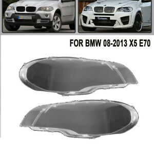 For 2008 2013 Bmw X5 E70 330i Pair Right Left Headlight Clear Lens Cover Usa