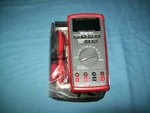 New Snap on Eedm525e Autoranging Digital Multimeter Dmm Multi color Lcd Unused