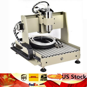 4axis Cnc Router Engraver 800w Desktop Engraving Drill Mill Cutting Machine 3040