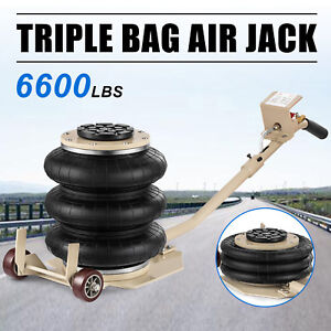 Pneumatic Jack 3 Ton Triple Bag Air Jack Lifting Height 18inch 6600lbs Capacity
