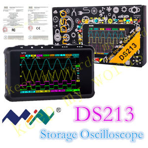 New Portable Lcd 4 channel Digital Oscilloscope Ds213 Usb 15mhz 100msa s Models