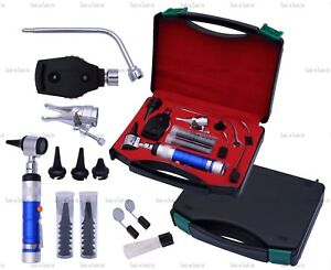 Blue Veterinary Otoscope Ophthalmoscope Diagnostic Kit Ent Surgical Instruments