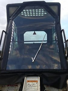 Bobcat Tractor Cab Enclosure replacement Old Vinyl Acrylic Front w hand Wiper