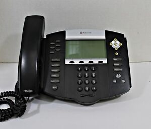 Polycom Soundpoint Ip 650 Ip650 Sip 220112630001 Phone Complete Great Condition