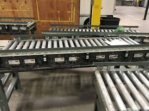 Lot Of 12 hytrol Conveyors 2012 power Roller 3 Corners And 9 Straight