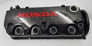 Honda Civic Valve Cover D16y8 Custom Hydro Dipped Hex Weave Carbon Fiber Jdm