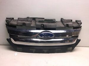2010 2012 Ford Fusion Front Bumper Upper Chrome Grille Radiator Cover Oem R2283