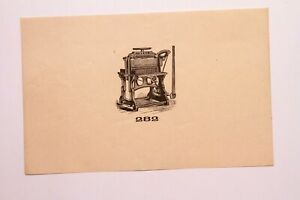 Old Letterpress And Printing Equipment Original Drawings Press 282 Ideal