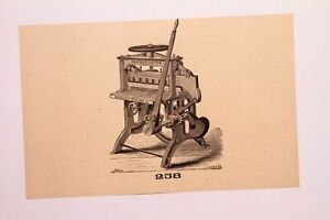 Old Letterpress And Printing Equipment Original Drawings Press 258 Cutter