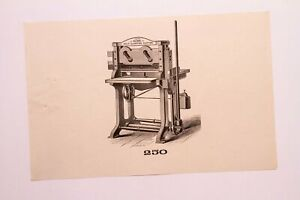 Old Letterpress And Printing Equipment Original Drawings Press 250 Acme Cutter