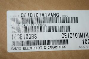 Sanyo Ce1c101m1vang 100uf 16v Smd Electrolytic Capacitor 6 3mmx5 4mm Quantity 50