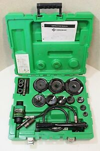 Greenlee 7310sb Hydraulic Knockout Punch Set 100 Tested