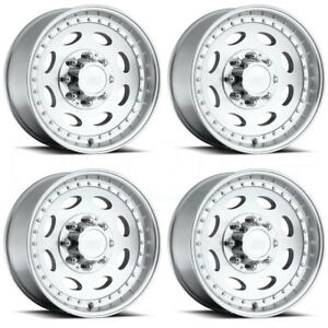 4 new 19 Vision Hd 81 Hauler Single Wheels 19 5x7 5 8x170 0 Machined Rims
