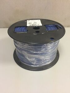 Southwire 500 Roll Blue 14 Gauge Solid Copper 600 Volt Wire