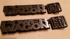 Dodge Truck 1979 80 Power Wagon 150 Emblem Set Oem