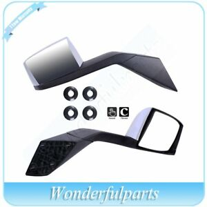 Chrome Vn Vnl Volvo Truck Hood Mirrors Mounting Plates 82361058
