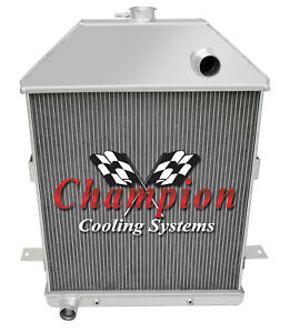 3 Row Best Cooling Champion Radiator For 1941 Ford Truck Ford Configuration