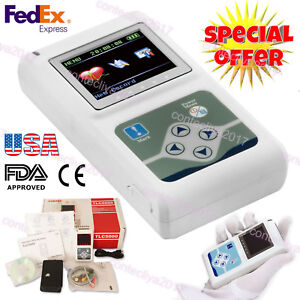 Fda Holter Recorder 12 channel 24h Ecg ekg System Monitor analyzer Software usa
