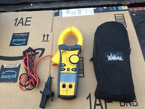 Ideal 61 772 1000 Amp Clamp Meter Alligator Clip Leads With Bottom Display