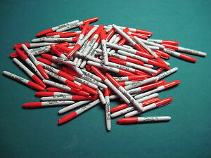 110 Bulk Red New Sharpie Fine Point Markers