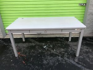 Mcdowell Craig Steel Desk Table With Drawer