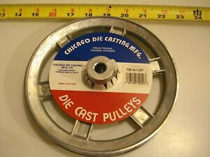 0449 Die Cast Pulley 7 Dia 1 2 Bore V belt A 6 spokes