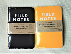 Field Notes Drink Local Ales Lagers Editions 2 Sealed 3 packs