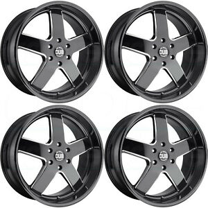 4 New 24 Dub Big Baller S223 Wheels 24x10 6x135 30 Black Milled Rims